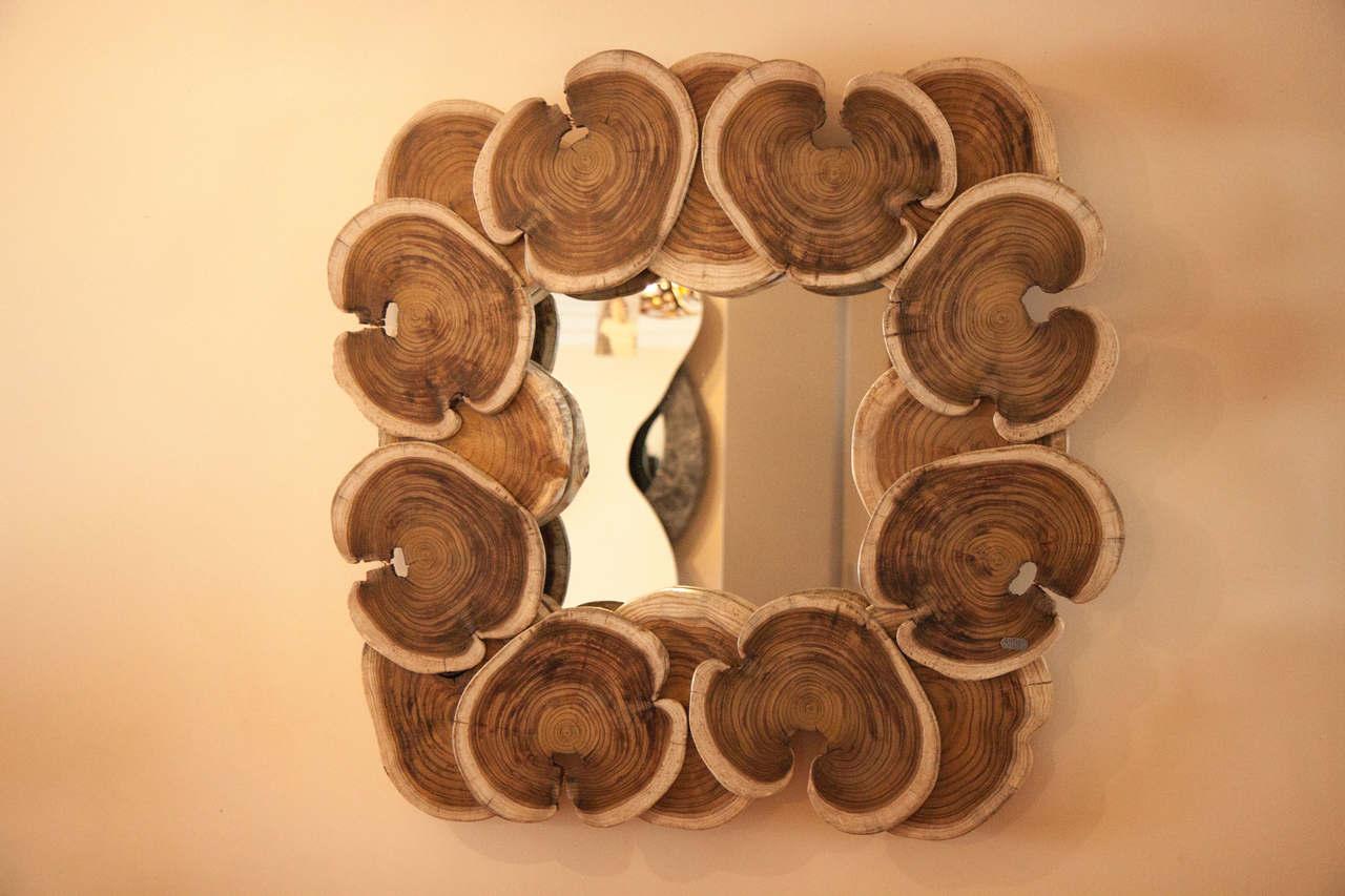 Espelho em Madeira | bromeliaI