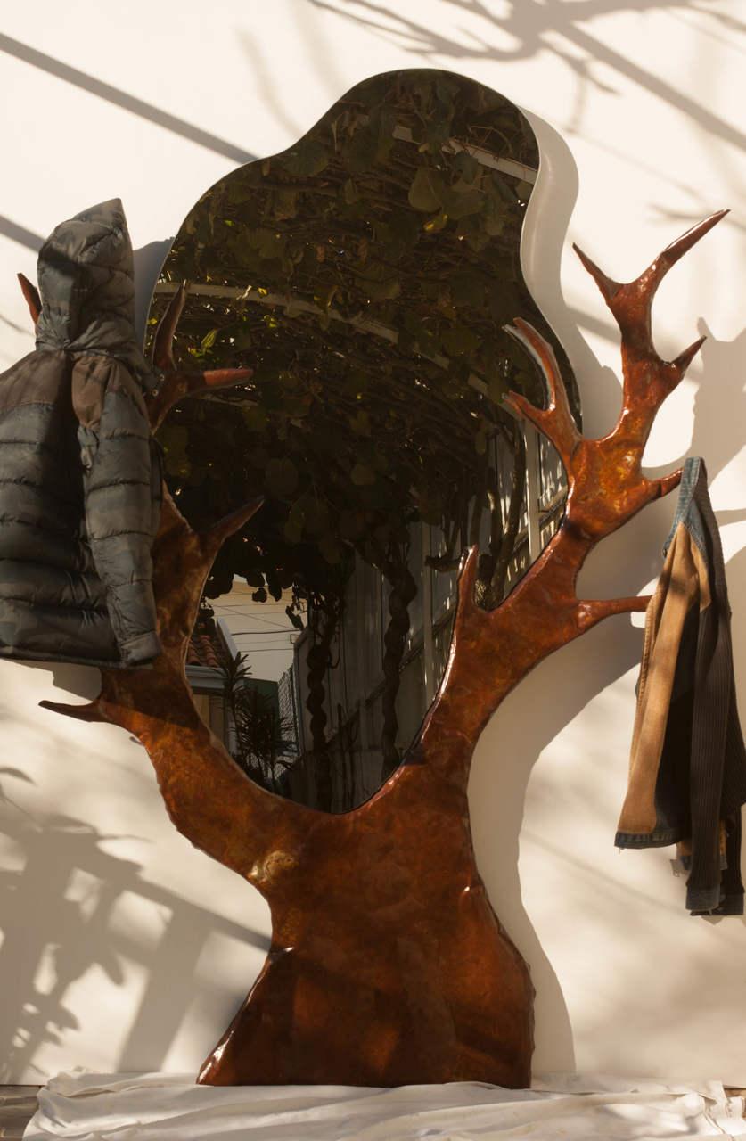 Decoração parede com Espelho e Cabide  | coffeumduo